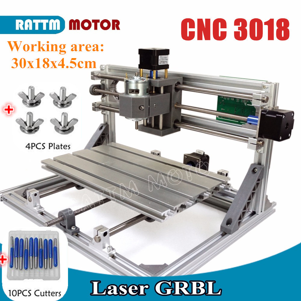 CNC 3018 GRBL Control Diy CNC Machine 30x18x4.5cm,3 Axis Pcb Pvc Milling Machine Wood Router Laser Engraving,best Toys,v2.5