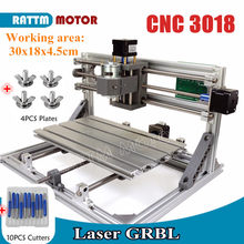 CNC 3018 GRBL control Diy CNC machine 30x18x4.5cm,3 Axis Pcb Pvc Milling machine Wood Router laser engraving,best toys,v2.5(China)