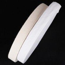 5 jardas/lote branco cinta cinto de algodão webbing espinha de peixe padrão fitas de algodão para embalagem de presente diy roupas acessórios de costura