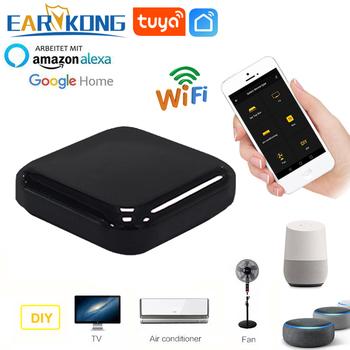 Tuya inteligentne WiFi pilot na podczerwień do klimatyzatora wentylator TV inteligentny domowy pilot na podczerwień uniwersalny pilot obsługa Alexa Google Home tanie i dobre opinie Projektory Audio wideo odtwarzacze Aparat Kamera Wideo Przełącznik CN (pochodzenie) ER-IRC02 DC 5V 1A (Micro USB) 2 4G Wifi (not support 5G)