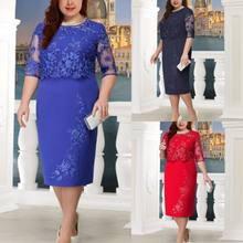 BacklakeGirls New Arrival Lace Split Joint False Twinset Women Dress Three Colors Half Sleeve Straight Cocktail Dress Coctel(China)