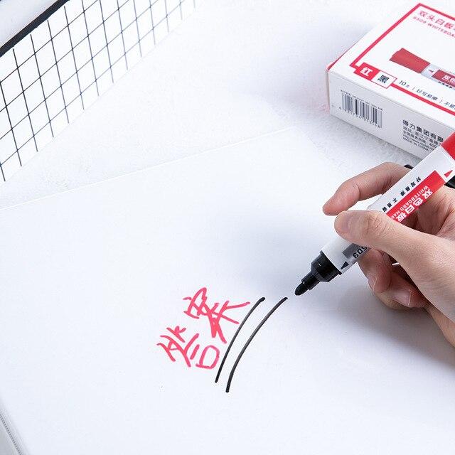 Фото 2 шт двусторонняя стираемый маркер для белой доски ручка синего цена