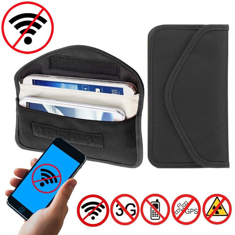 Signal Blockieren Tasche Faraday Tasche Schild Käfig Beutel Brieftasche Telefon Fall für Handy Privatsphäre Schutz und Auto Schlüssel FOB