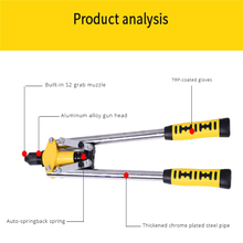 Rivet Gun Manual Double Handle Pull Cap Labor Saving Tool Non-Slip Labor-Saving