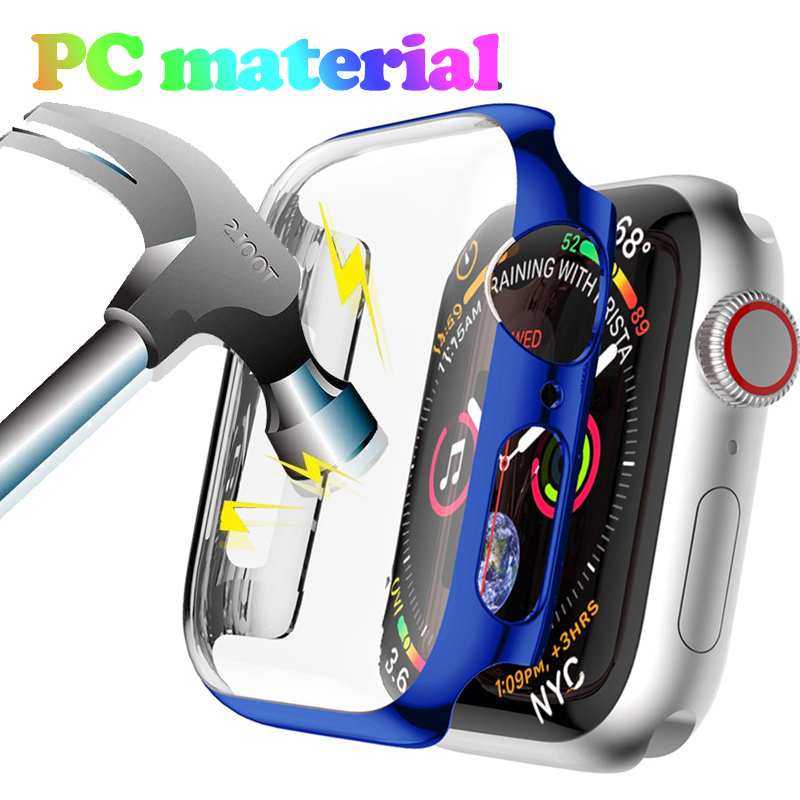 PC Cover For Apple Watch 5 4 3 Band  Case Screen Protector 42mm 44mm 38mm 40mm Shatter-Resistant Shell Frame Protector Cover