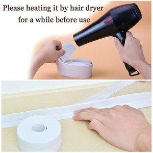 Image 5 - Cinta de sellado para baño, banda de PVC autoadhesiva, adhesivo impermeable para pared, para baño y cocina, 2021