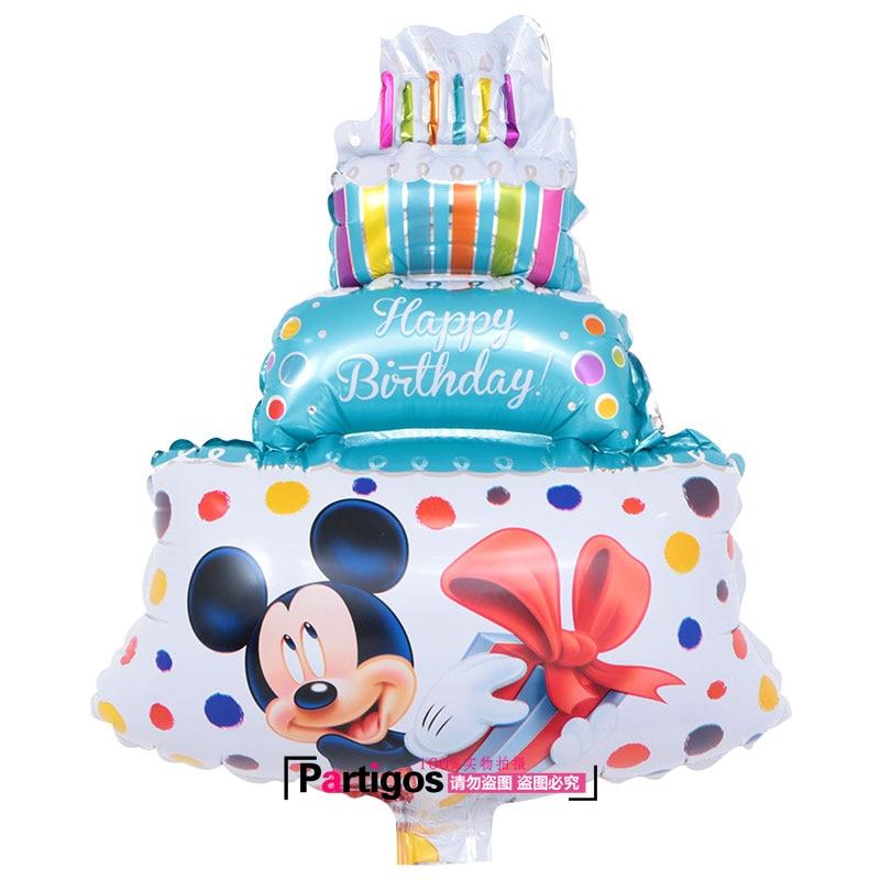 Wondrous 1Pcs Lot Three Layers Birthday Cake Balloons Aluminum Foil Ballon Funny Birthday Cards Online Fluifree Goldxyz