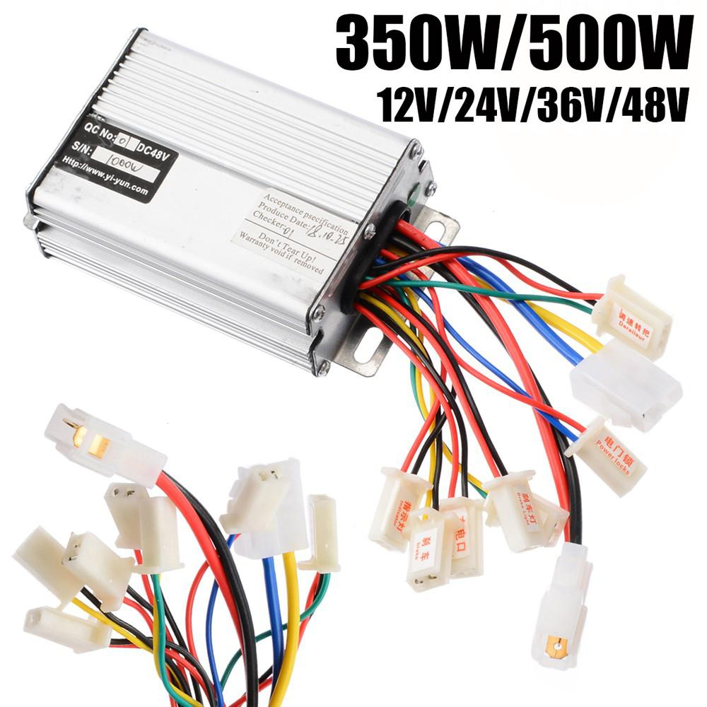 350W/500W 12V/24V/36V/48V Electric Bicycle Brush Controller On For Electric DC Motor Scooter E-bike Controller Box Parts
