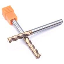 1PCS HRC60 4F 6.0XD6X75L Tungsten Steel solide Carbide Endmills CNC Lathe End Mill Flat Bottom Four Blade flm3135 4f 1pcs