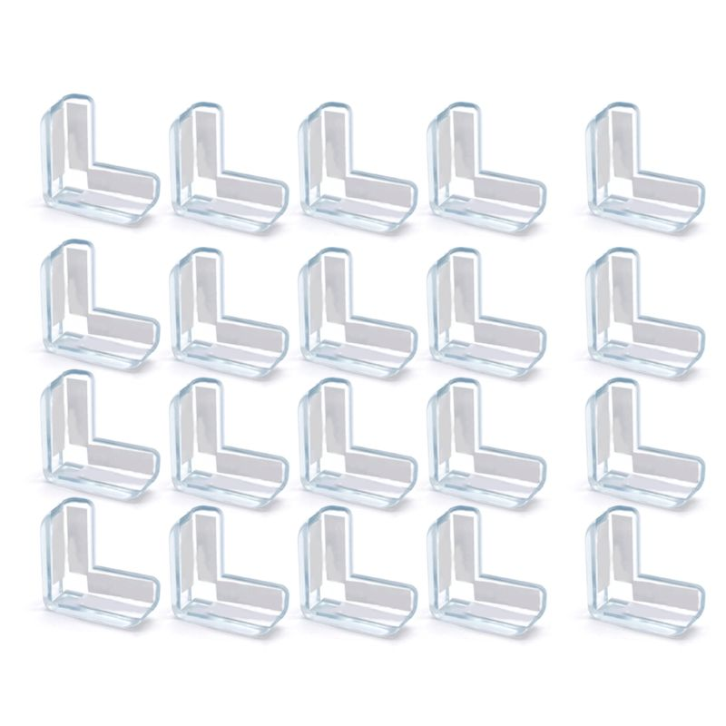 20 Pcs Table Table Corner Protector Edge Protector Baby Safety Buffer Protective Caps Impact Protection For Child