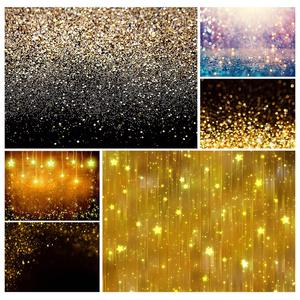 Image 1 - Golden Gradient Sand Glitter Christmas Photo Backgrounds Prom Photography Backdrops for Children Baby Family Party Photobooth
