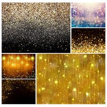 Golden Gradient Sand Glitter Christmas Photo sfondi Prom Photography fondali per bambini Baby Family Party Photobooth