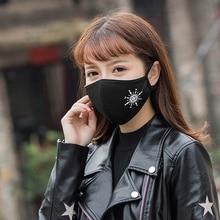 Светящиеся маски на рот, черные воздушные загрязнения, маска для рта, аниме, противопылевые маски, Непродуваемые рот-муфельные, устойчивые к бактериям, грипп, маска для лица