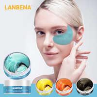 LANBENA Eye Mask Hyaluronic Acid Collagen black Pearl Gel Moisturizing Eye Patch Anti Wrinkle Puffy Eyes Dark Circles 60pcs