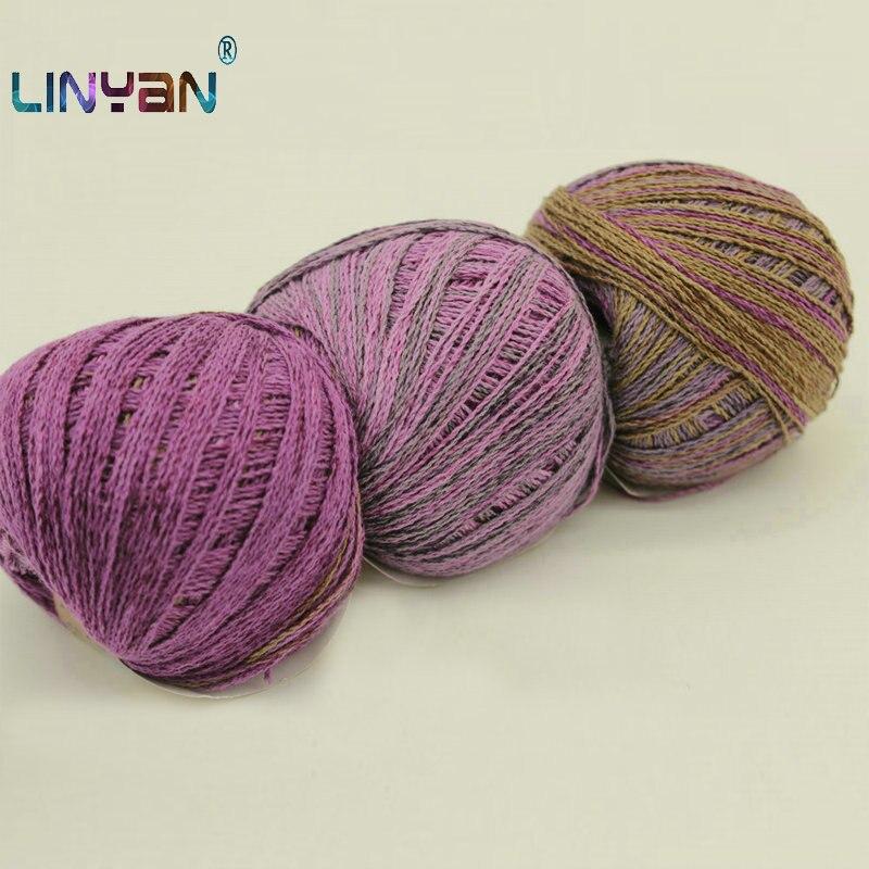 linen natural 3ply yarn weaving crochet yarn thick yarn Linen anthracite yarn linen thread