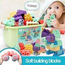 Детские строительные блоки мягкие резиновые игрушки для ванн