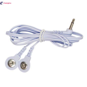 Free shipping hot selling 200pcs/lot DC 3.5MM 2 in 1 Head electrode wires /cable for digital device and TENS machine