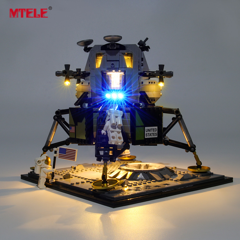 MTELE Brand LED Light Up Kit For Creator Apollo 11 Lunar Lander Lighting Set Compatile With 10266