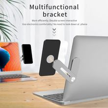 цена на Aluminum Alloy Multi Screen Support Laptop Side Mount Connect Mobile Phone Bracket Adjustable Phone Stand Holder