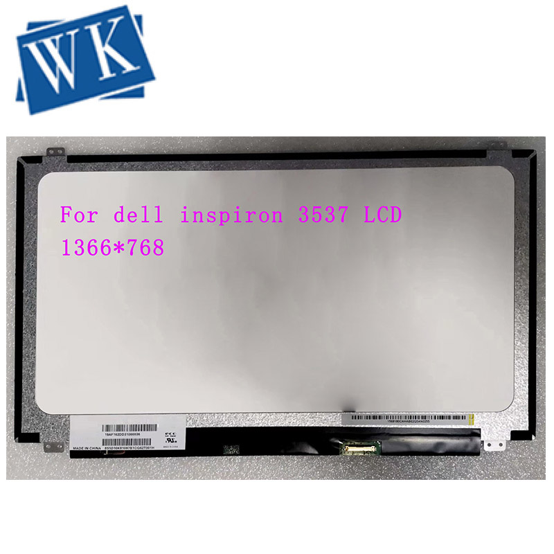"15.6"" laptop Spare parts For dell inspiron 3537 Laptop LCD Screen monitor 40 PINS HD 1366X768 Panel monitor replacement"