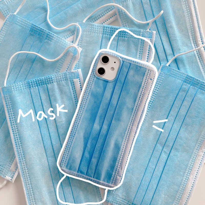 Pour iphone 11 X XS 8 7 8plus Couple modèles masque créatif étui de téléphone pour iphone11 pro max coque de téléphone portable quatre coins