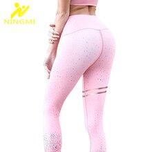 NINGMI High Waist Trainer Control Panties Women Legging Sport Pant Gold Print Fitness Tight Body Shaper Sexy Butt Lifter Trouser