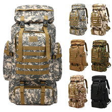 Waterproof Molle Camo Tactical Backpack Military Army Hiking Camping Backpack Travel Rucksack Outdoor Sports Climbing Bag