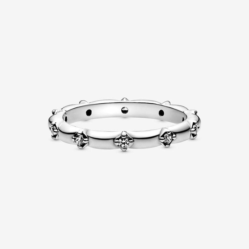 Bague en argent Sterling 2020 pour femmes, couronne de fleur de marguerite scintillante, bijou de fiançailles, printemps, 925 3