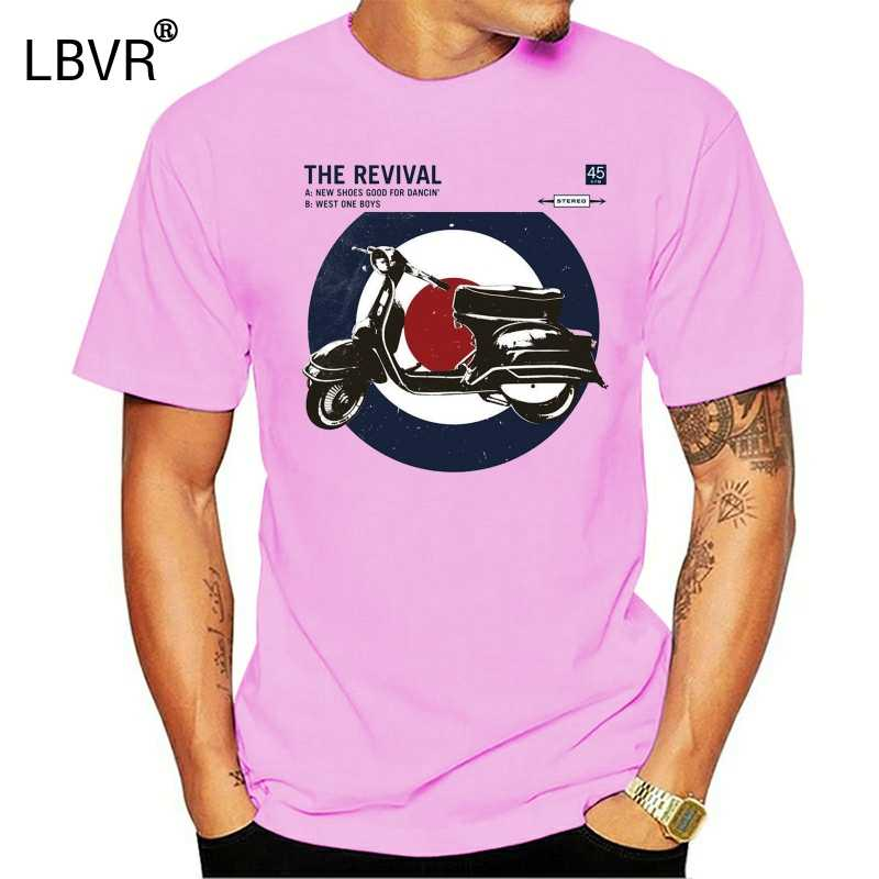 Merc Londen Scooter Doel Retro Mod Fashion T-shirt Costello-Wit
