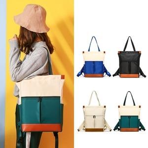 Image 1 - Waterproof Fashion Laptop Backpack Women Backpack for Laptop 15 15.6 inch Female Double Shoulder bag 2019