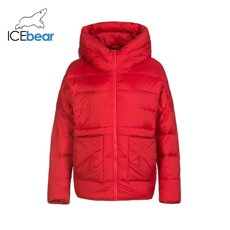 ICEbear 2019 New Winter Ladies Down Jacket High Quality Warm Ladies Jacket Brand Ladies Clothing D4YY83013Y