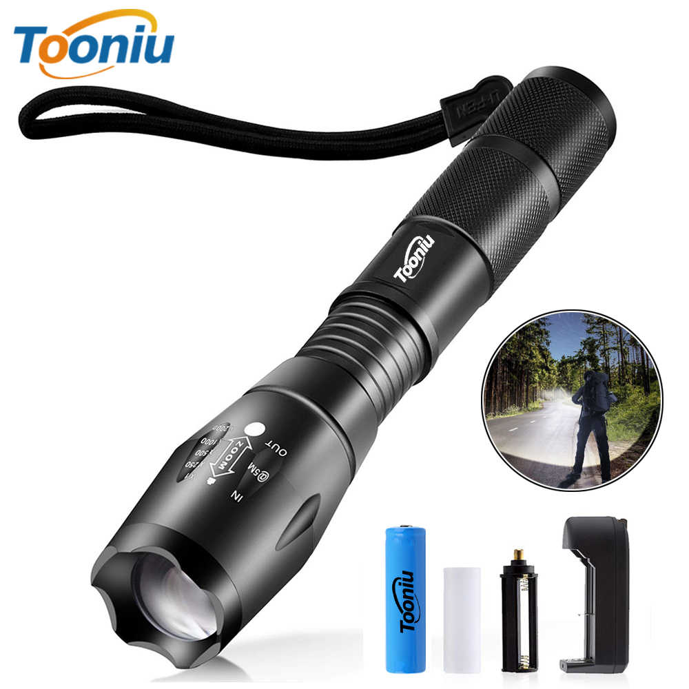 LED Flashlight Outdoor Camping Powerful Torch 5 lighting modes Zoomable light Used for adventure hunting, fishing,etc.