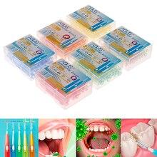 Oral-Care Interdental-Brush Floss-Brushes Orthodontic Clean Teeth Between Plastic Soft