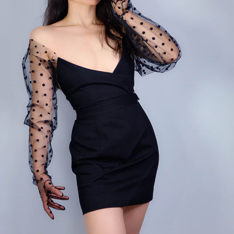 Sexy Women's Bridal Wedding See Through Dots Gloves Derby Tea Party Long Sheer Gloves Victorian Gothic Costumes Gloves ST334