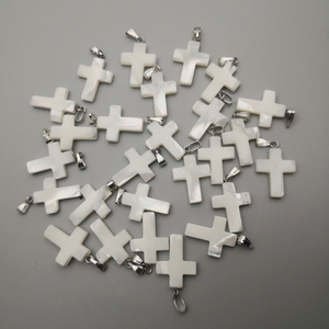 Image 1 - wholesale fashion Cross Natural shell Pendants for jewelry making charm diy necklace accessories 36pcs/lot