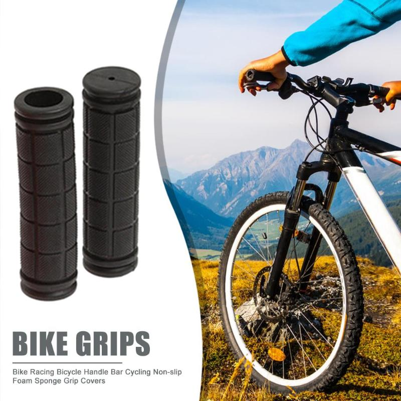 Bike Racing Bicycle Motorcycle Handle Bar Foam Sponge Grip Covers Non-slip Soft Handlebars Cycling Riding Accessories Black