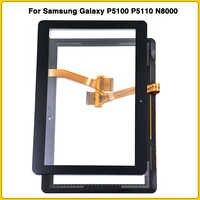 Neue Touchscreen Für Samsung Galaxy Tab 2 GT-P5100 P5100 P5110 N8000 10,1 ''Touch Screen Panel Digitizer Sensor LCD vordere glas