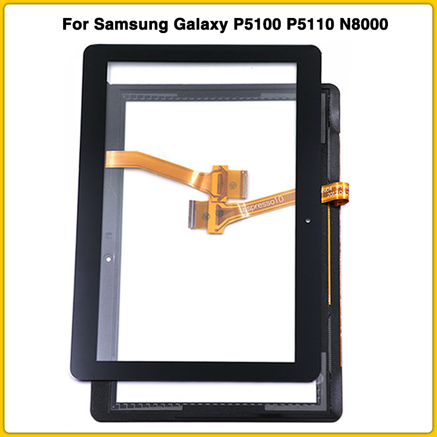 new <font><b>Touchscreen</b></font> For Samsung Galaxy Tab 2 GT-P5100 P5100 P5110 N8000 10.1'' Touch Screen Panel Digitizer Sensor LCD front glass image