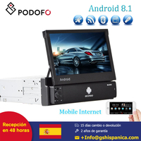 Podofo 7'' Android 8.1 Car Radio Car Multimedia Player 1din Support Touch Screen GPS Wifi MP5 Bluetooth USB FM Rear View