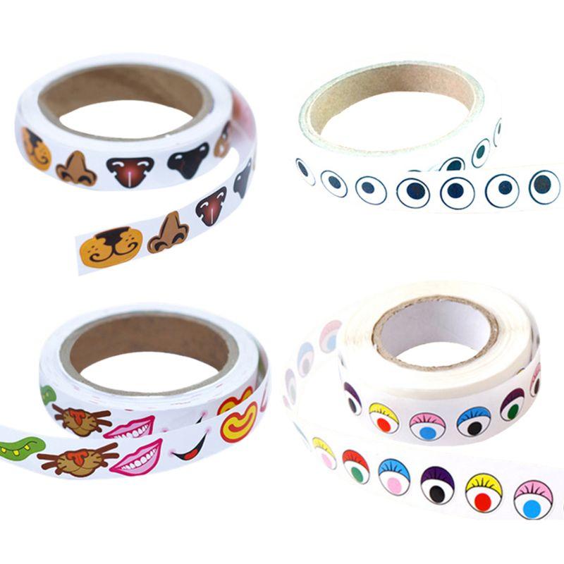 Cartoon Sticker With Adhesive Black White Eyeballs Stickers Self-adhesive Children Handmade DIY Decorative Materials