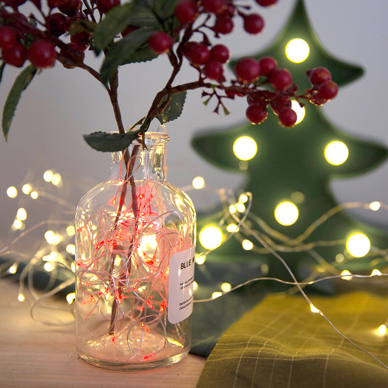 YINUO CANDLE LED String Lights 10M 5M 3M 2M 1M Copper Wire Fairy Lights Battery USB Christmas Wedding Party Decoration Garland in LED String from Lights Lighting