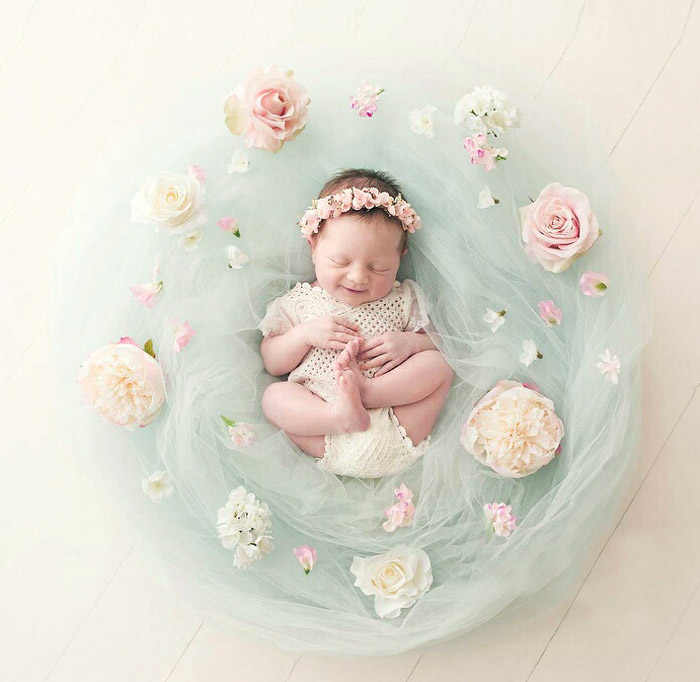 Newborn photography props big flower decoration gauze background blanket photography props studio decoration accessories
