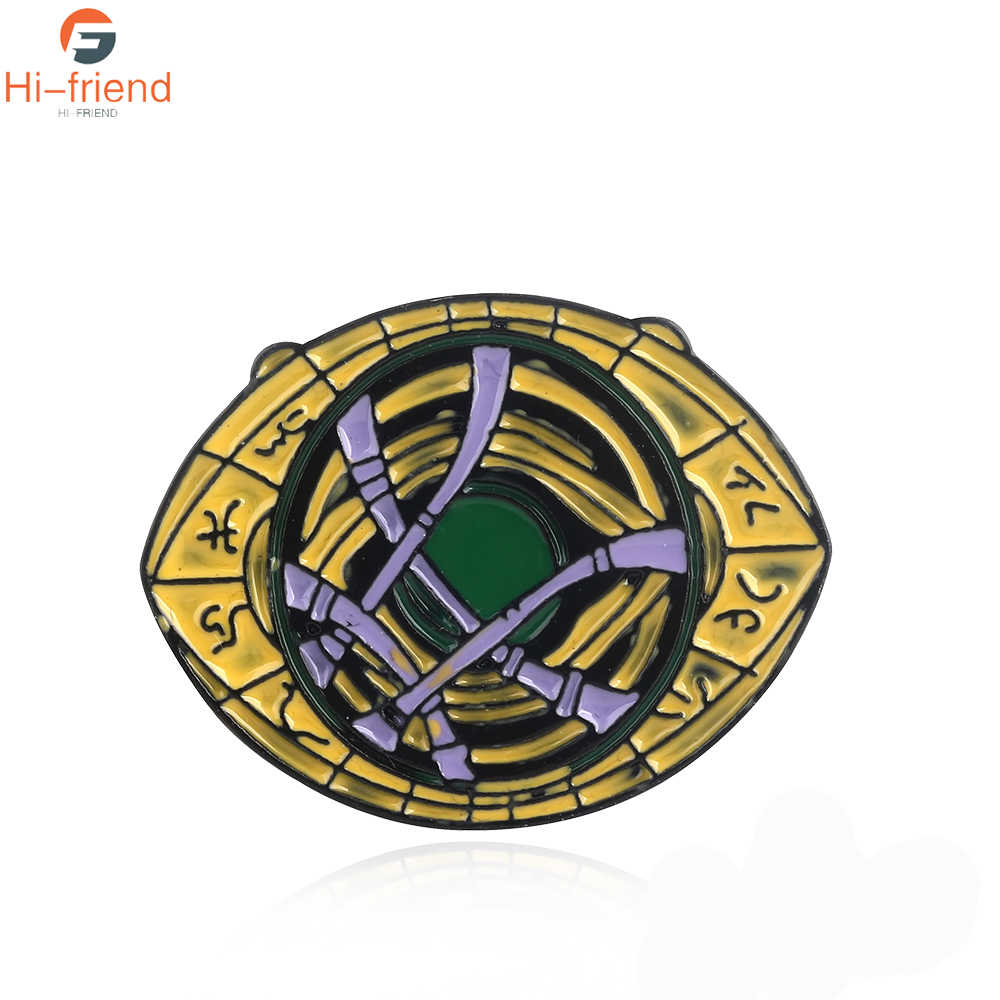 Avengers Dokter Aneh Mata Agamotto Pin Bros Berwarna Berkualitas Tinggi Enamel Bros Mantel Kerah Pin Lencana Tombol Perhiasan