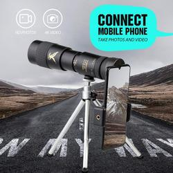 4K 10-300X40mm Super Telephoto Zoom Monocular Telescope Tripod Eye Protection Waterproof FMC Ultra-High Transmittance Fit Phone