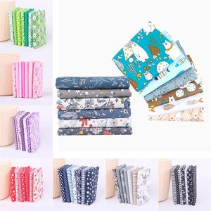 7pcs 50cm fabric stash cotton fabric charm packs patchwork fabric Plain Thin Patchwork Cotton Fabric Floral Series Bundle Sewing(China)