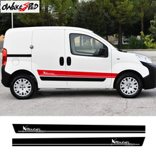 2PCS Climber Graphics Car Door Side Skirt Stickers Auto Body Decor Vinyl Decals Sport Stripes Styling For Fiat Fiorino