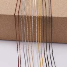 5 m/lot Gold/Bronze Plated Necklace Chains For Jewelry Making Findings Materials Handmade DIY Necklace Chain Supplies