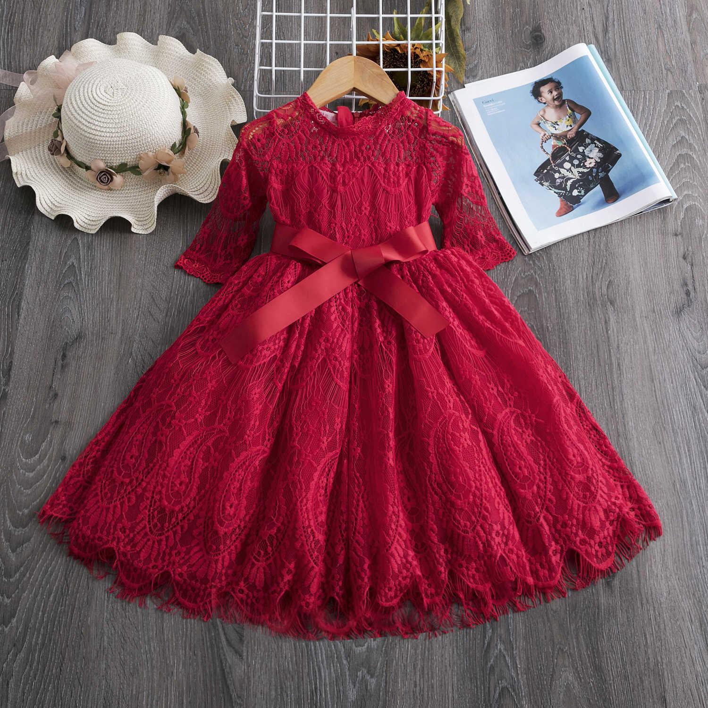 12 Sommer Spitze Prinzessin Party Kleid Elegante Kinder Kleidung Kinder  Kleider für Mädchen Hochzeit Partei Kleidung Geburtstag Vestidos Farbe