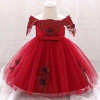 2021 ropa de invierno ropa de bebé 1st bautismo vestido vestidos de bebé niña vestidos de fiesta y boda flor 2 1 año vestido de cumpleaños Tutu