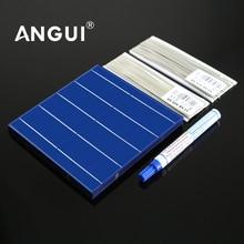פנל סולארי DIY תאים סולריים Polycrystalline פוטו מודול DIY בקר סוללה מטען סולארי Sunpower C60 5 6 אינץ רכב